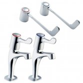 Deva Lever Action Kitchen Sink Taps With 6 inch Levers, Chrome