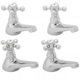 Deva Tudor Basin Taps and Bath Taps, Chrome