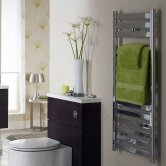 Duchy Capri Designer Towel Rail 720mm H x 500mm W - Chrome