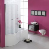 Duchy Hampstead Complete P-Shaped Shower Bath 1700mm x 703mm/750mm Left Handed