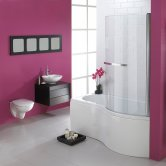 Duchy Hampstead Complete P-Shaped Shower Bath 1700mm x 703mm/750mm Right Handed