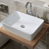 Duchy Lavender Rectangular Vessel Basin, 500mm Wide, 0 Tap Hole