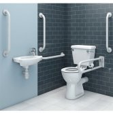 Duchy Doc M Pack with Close Couple Toilet and Basin - White
