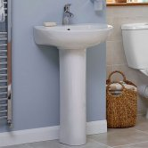 Duchy Ocean Basin & Full Pedestal 560mm Wide 1 Tap Hole