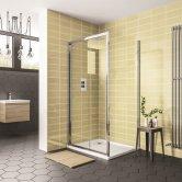 Duchy Spring 8 Sliding Shower Door 1000mm Wide - 8mm Clear Glass