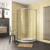 Duchy Spring 8 Offset Quadrant 2 Doors Shower Enclosure 1000mm x 800mm - 8mm Glass