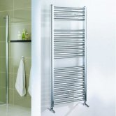 Duchy Standard Straight Ladder Towel Rail 690mm High x 450mm Wide - Chrome