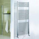Duchy Standard Straight Towel Rail 1100mm H X 600mm W - Chrome