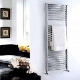 Duchy Standard Curved Ladder Towel Rail 690mm H X 600mm W - Chrome