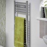 Duchy Roma Straight Ladder Towel Rail 842mm H x 400mm W - Chrome