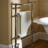 Duchy Taurus Radiator Heated Towel Rail 965mm H x 673mm W White/Chrome