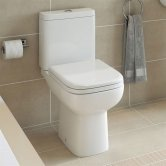 Duchy Violet Close Coupled Toilet with Push Button Cistern - Soft Close Seat