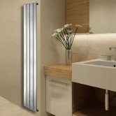 Duchy Virgo Designer Vertical Radiator 1800mm H x 308mm W - Chrome