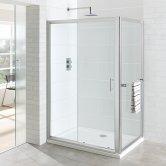 Eastbrook Vantage Sliding Shower Door 1400mm Wide - 6mm Glass