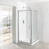 Eastbrook Vantage Pivot Shower Door 800mm Wide - 6mm Glass