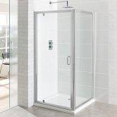 Eastbrook Vantage Pivot Shower Door 900mm Wide - 6mm Glass