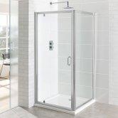 Eastbrook Vantage Pivot Shower Door 1000mm Wide - 6mm Glass