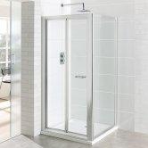 Eastbrook Vantage Bi-Fold Shower Door 700mm Wide - 6mm Glass
