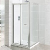 Eastbrook Vantage Bi-Fold Shower Door 760mm Wide - 6mm Glass