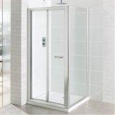 Eastbrook Vantage Bi-Fold Shower Door 800mm Wide - 6mm Glass
