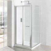 Eastbrook Vantage Bi-Fold Shower Door 900mm Wide - 6mm Glass