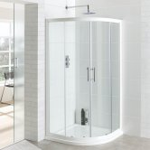 Eastbrook Vantage Quadrant Shower Enclosure 900mm x 900mm White - 6mm Glass