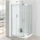 Eastbrook Vantage Quadrant Shower Enclosure 800mm x 800mm Silver - 6mm Glass