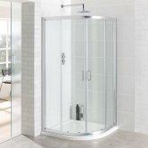 Eastbrook Vantage Quadrant Shower Enclosure 1000mm x 1000mm Silver - 6mm Glass