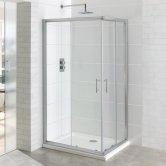 Eastbrook Vantage Corner Entry Shower Enclosure 900mm x 760mm - 6mm Glass