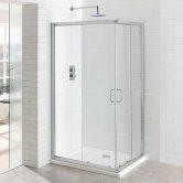 Eastbrook Vantage Corner Entry Shower Enclosure 1000mm x 760mm - 6mm Glass