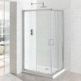 Eastbrook Vantage Corner Entry Shower Enclosure 900mm x 900mm - 6mm Glass