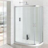 Eastbrook Vantage Offset Quadrant Shower Enclosure 1400mm x 760mm - 6mm Glass