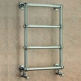 EcoRad Abbey Traditional Towel Rail, 750mm H x 500mm W, Chrome