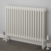 EcoRad Classic Horizontal 3 Column Radiator 750mm H x 519mm W - White
