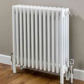 EcoRad Classic 4-Column Horizontal Radiator, 600mm H x 1194mm W, White