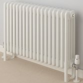 EcoRad Classic Horizontal 4 Column Radiator 750mm H x 609mm W -White