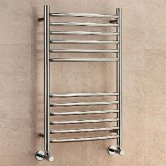 EcoRad Edge Curved Ladder Towel Rail, 800mm H x 500mm W, Polished Stainless Steel