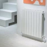EcoRad Flat Top Aluminium Radiator 690mm High x 320mm Wide 4 Sections White