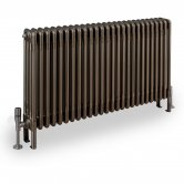 EcoRad Legacy 4 Column Radiator 602mm High x 159mm Wide 3 Sections - Lacquer
