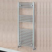 EcoRad Solace Straight Ladder Towel Rail, 800mm H x 500mm W, Chrome