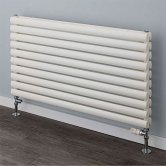 EcoRad Style Double Horizontal Radiator, 600mm H x 1220mm W, White