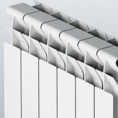 Faral Tropical 95 Plus Aluminium Radiator 422mm H x 340mm W 4 Sections White