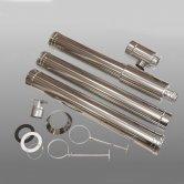 Firebird Stainless Steel 3m Balance Vertical Flue Kit for 100kW