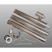 Firebird Stainless Steel 3m Balance Vertical Flue Kit for 44-58kW
