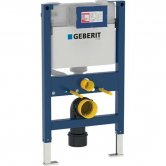 Geberit Duofix 820mm Wall Hung WC Toilet Frame With 150mm Kappa Cistern, Blue