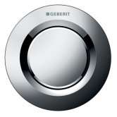 Geberit Type 01 Single Flush Plate Button for 80mm Concealed Cistern - Gloss Chrome
