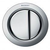 Geberit Type 01 Pneumatic Dual Flush Plate Button for Concealed Cistern - Matt Chrome