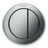 Geberit Type 10 Pneumatic Dual Flush Plate Button for 120mm and 150mm Cistern - Matt/Gloss Chrome