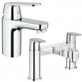 Grohe Eurosmart Cosmo Basin Mixer & Bath Filler