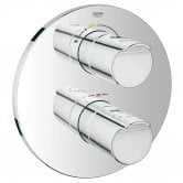 Grohe Grohtherm 2000 New Aquadimmer Concealed Shower Valve Trim Dual Handle - Chrome